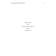 HLT 520 Week 4 Assignment, Emtala Analysis