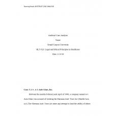 HLT 520 Week 6 Assignment, Antitrust Case Analysis