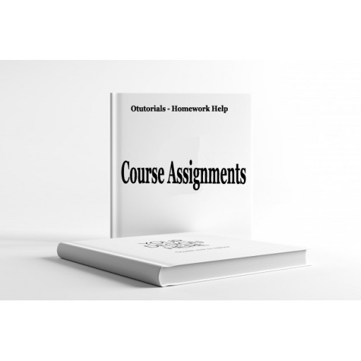 EED 475 Course Assignment Week 1 to 8
