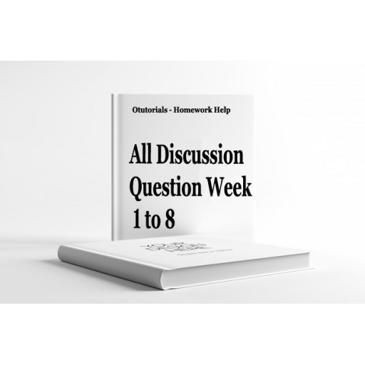 EED 475 Week 1 to 8 Discussion Question with Responses