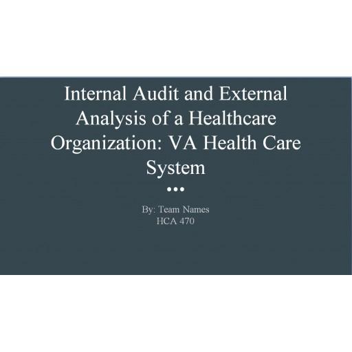 HCA 470 CLC Internal Audit and External Analysis of a Healthcare Organization