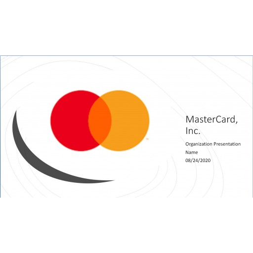 MGT 526 Week 6 Assignment, Apply Master Card Presentation: 2020