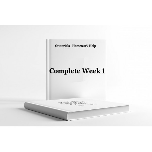 HLT 555 Week 1, Assignment, Discussion - Complete